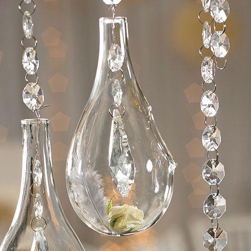 Tear Drop Glass Vases