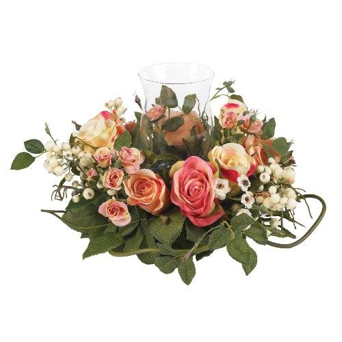 Candle Rose Centerpiece