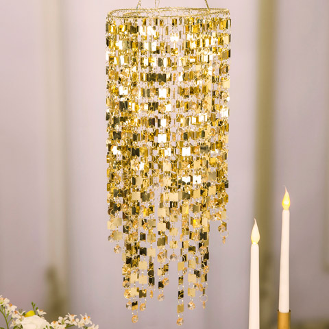 Event Decor Gold Hanging Pendant