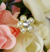 Gold and Cream Pearl Bouquet Jewelry