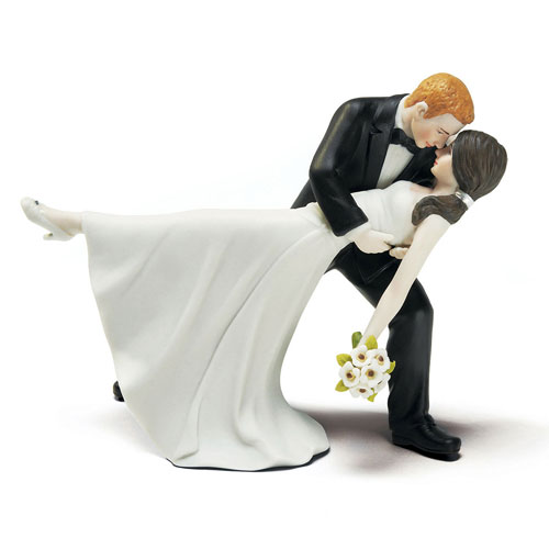 Romantic Dip Cake Topper