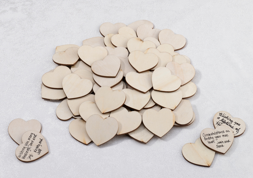 Wooden Hearts for Guest Book Signatures