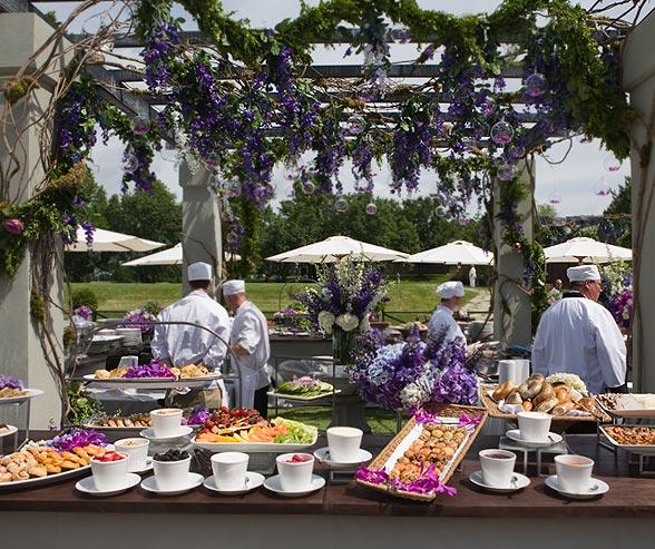 Pretty Wedding Buffet Table